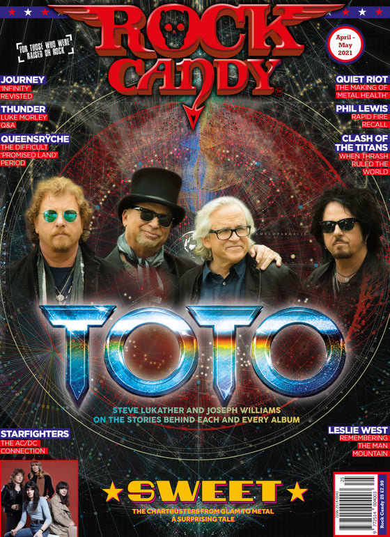 Rock Candy Magazine Issue 25: TOTO COVER FEATURE Sweet LESLIE WEST Starfighters