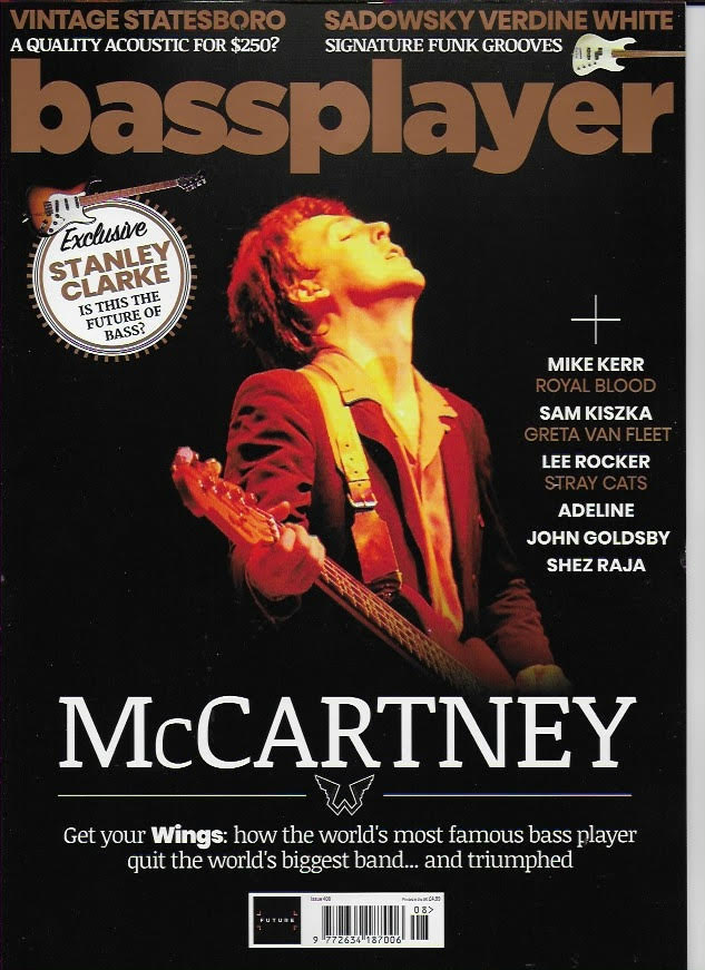 PAUL McCartney - The Beatles BASS PLAYER MAGAZINE - MAY 2021 - BRAND NEW