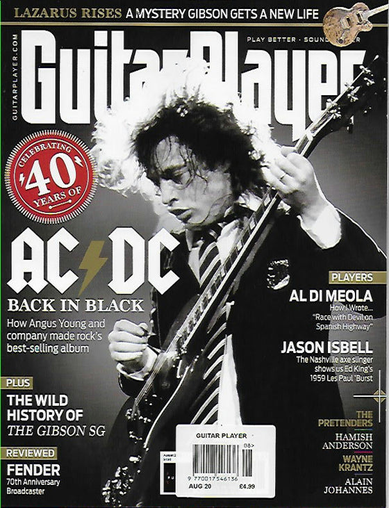 Guitar Player Magazine August 2020: Angus Young AC/DC Back In Black