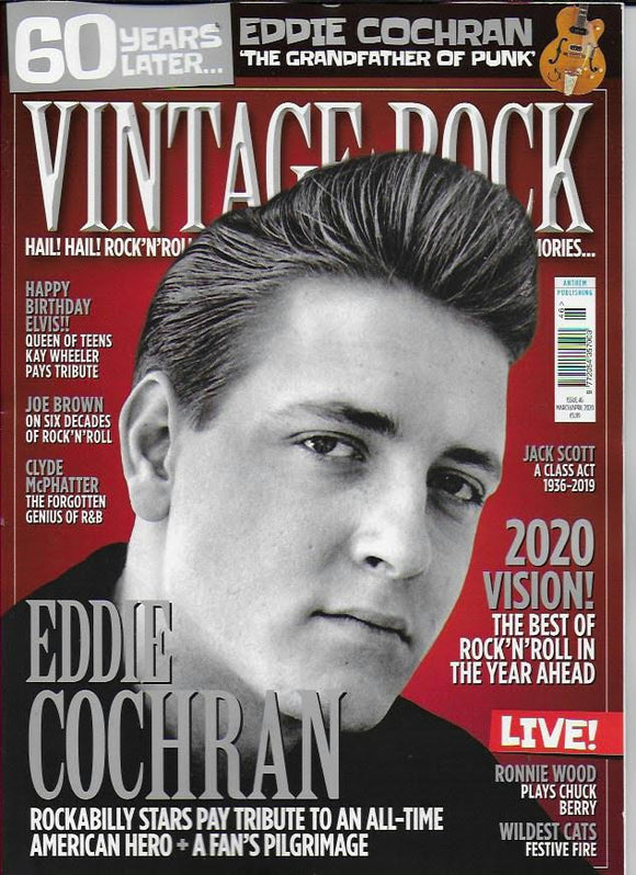 Vintage Rock Magazine #46 (March 2020) EDDIE COCHRAN COVER FEATURE