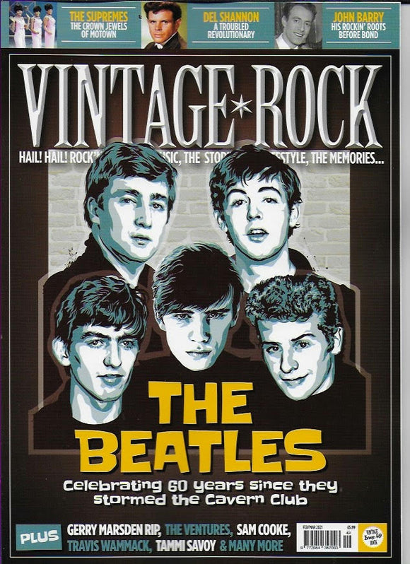 Vintage Rock Magazine Feb 2021 THE BEATLES Diana Ross THE SUPREMES Paul McCartney