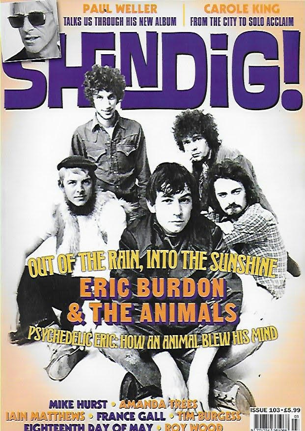 SHINDIG MAGAZINE - Issue 103 Eric Burdon & The Animals - Paul Weller