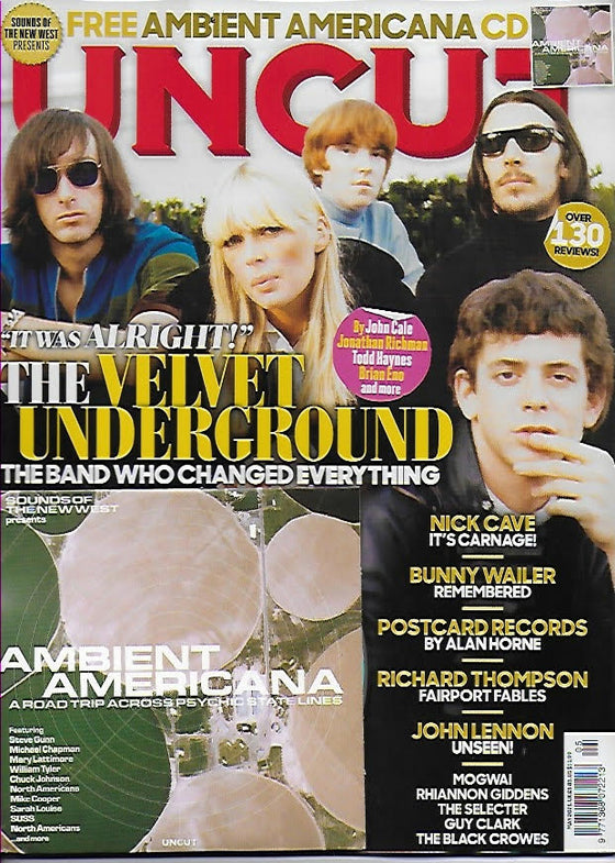 UK UNCUT Magazine May 2021: VELVET UNDERGROUND Lou Reed JOHN LENNON Richard Thompson