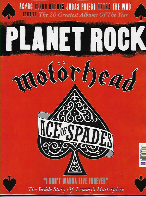 Planet Rock Magazine #18: MOTORHEAD - Special Edition - Lemmy (Ace of Spades)