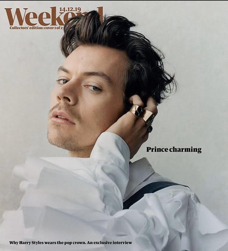 GUARDIAN WEEKEND magazine December 14th 2019 Harry Styles cover #1 (One Direction) (Defective cover)