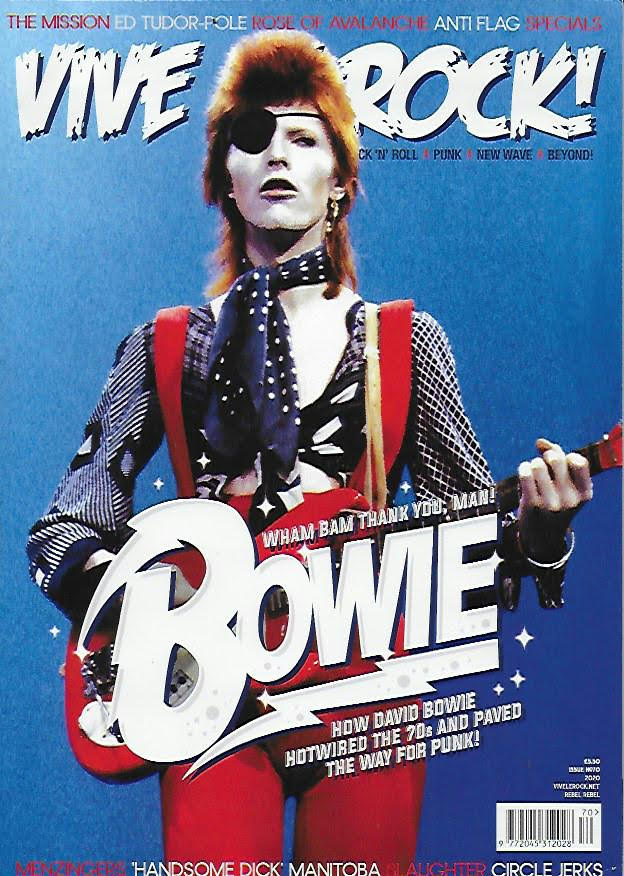 VIVE LE ROCK MAGAZINE -ISSUE 70 - David Bowie Cover