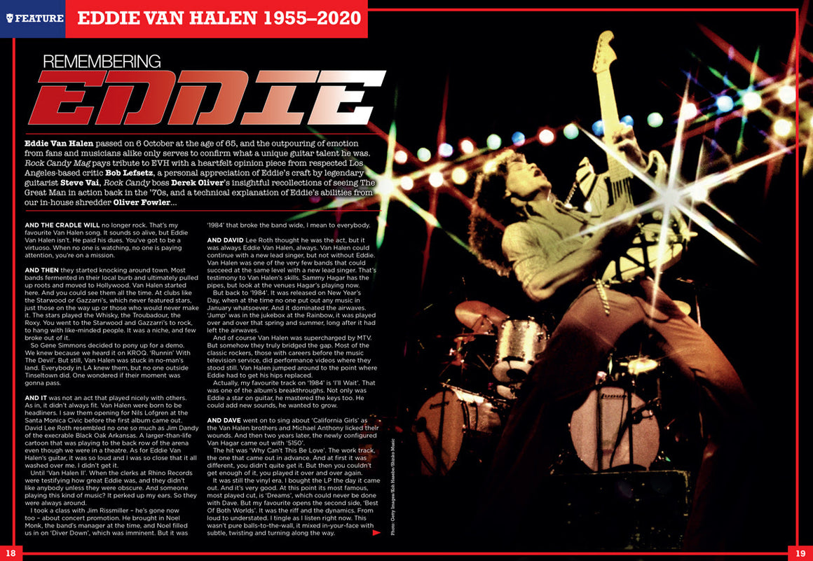 Rock Candy Magazine Issue 23: YES Trevor Rabin & Jon Anderson - Eddie Van Halen