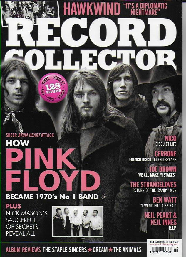 RECORD COLLECTOR magazine Feb 2020 - Pink Floyd Hawkwind Neil Peart Rush