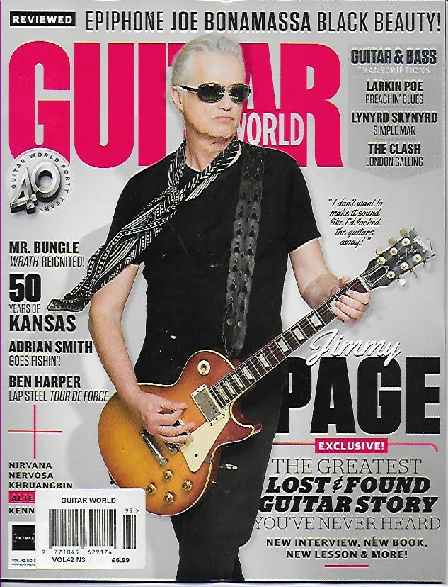 GUITAR WORLD – March 2021 JIMMY PAGE Led Zeppelin Exclusive