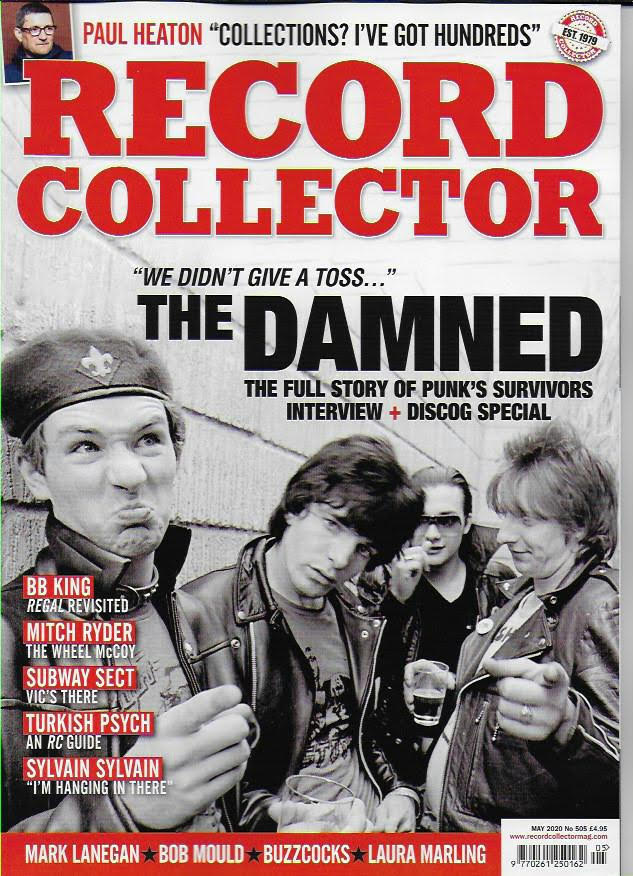RECORD COLLECTOR magazine May 2020 #505 - THE DAMNED Laura Marling