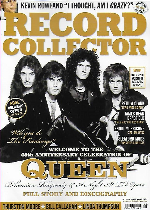 RECORD COLLECTOR- No.509 September 2020: QUEEN FREDDIE MERCURY