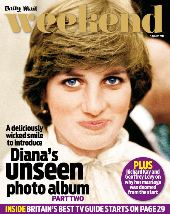 UK Weekend magazine 5 August 2017 Princess Diana - Her Unseen Photo Album Part 2