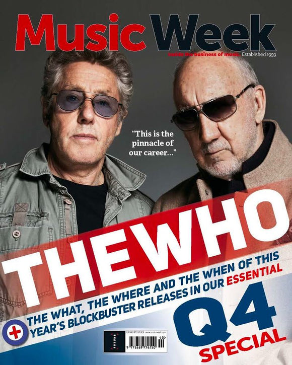 UK Music Week Magazine October 2019: THE WHO (Roger Daltrey & Pete Townshend)