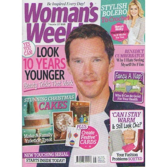 Benedict Cumberbatch on the cover of Woman's Weekly Magazine
