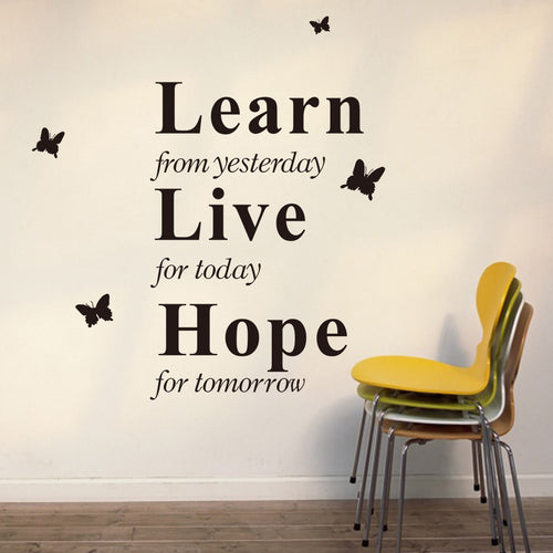 Learn from Yesterday Wall Decal