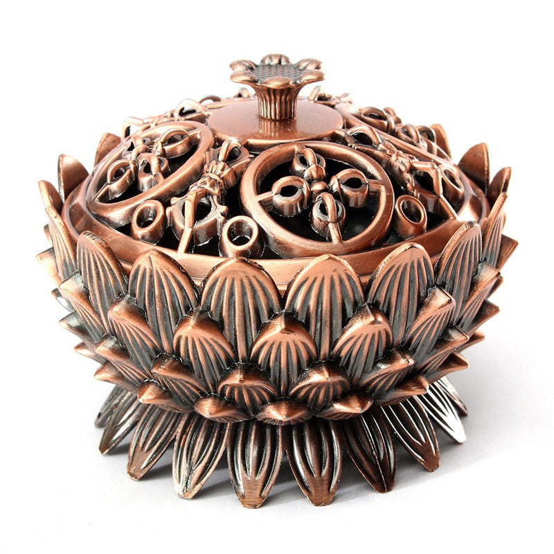 Retro Tibetan Red Copper Incense Burner