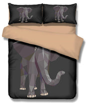 3D Elephant Bedding Set