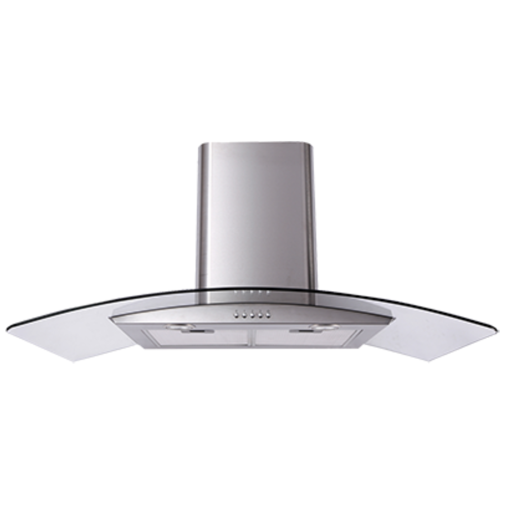 Artusi ACG900X 90cm Curved Glass Stainless Steel Rangehood - Stove Doctor
