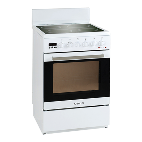 Artusi AFC547W 54cm Vulcan Series Freestanding White Electric Stove