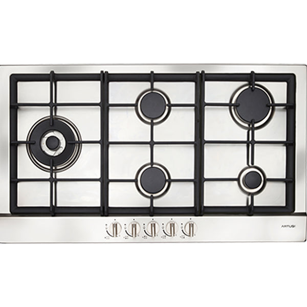 Artusi AGH91XFFD 90cm Stainless Steel Gas Cooktop