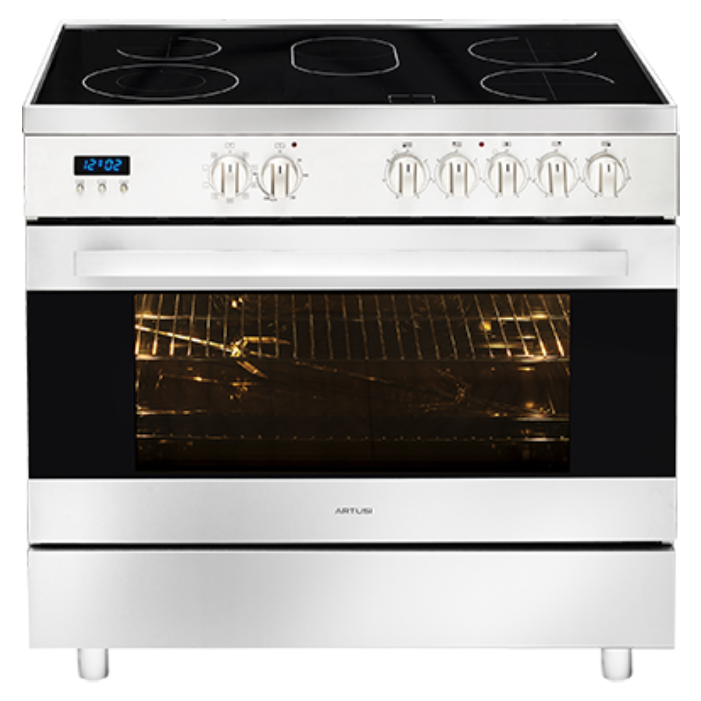 Artusi CAFC95X 90cm Freestanding Stainless Steel Electric Stove