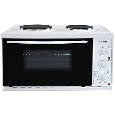 Artusi AOMK1 22L Vulcan Benchtop Oven with Cooktop - Stove Doctor