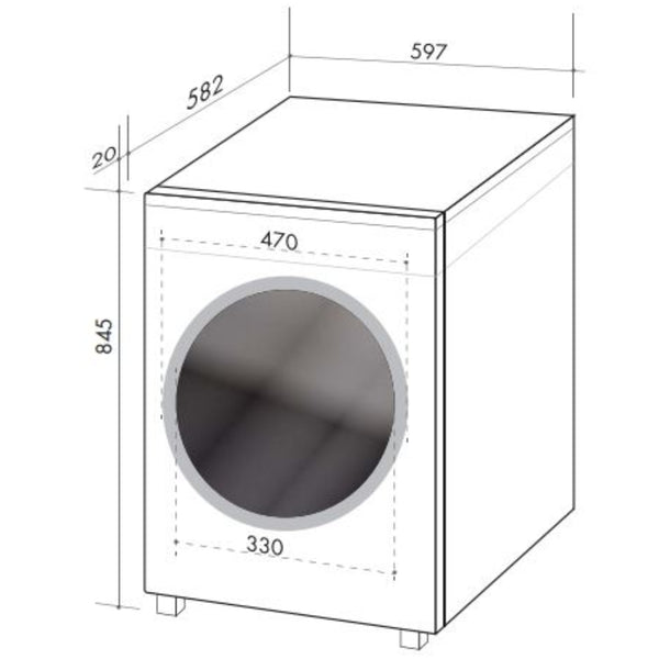 Artusi AWD845W 8Kg/4.5Kg Waher Dryer Combo