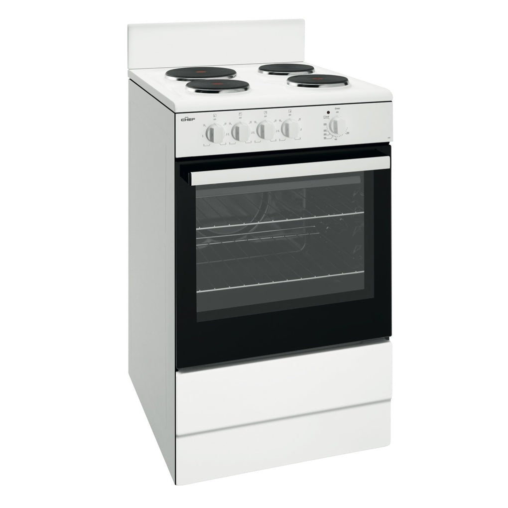 Chef CFE532WB 54cm Electric Freestanding Stove - Stove Doctor