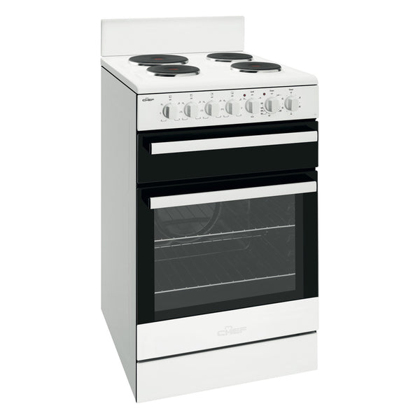 Chef CFE535WB 54cm Electric Freestanding Stove - Stove Doctor