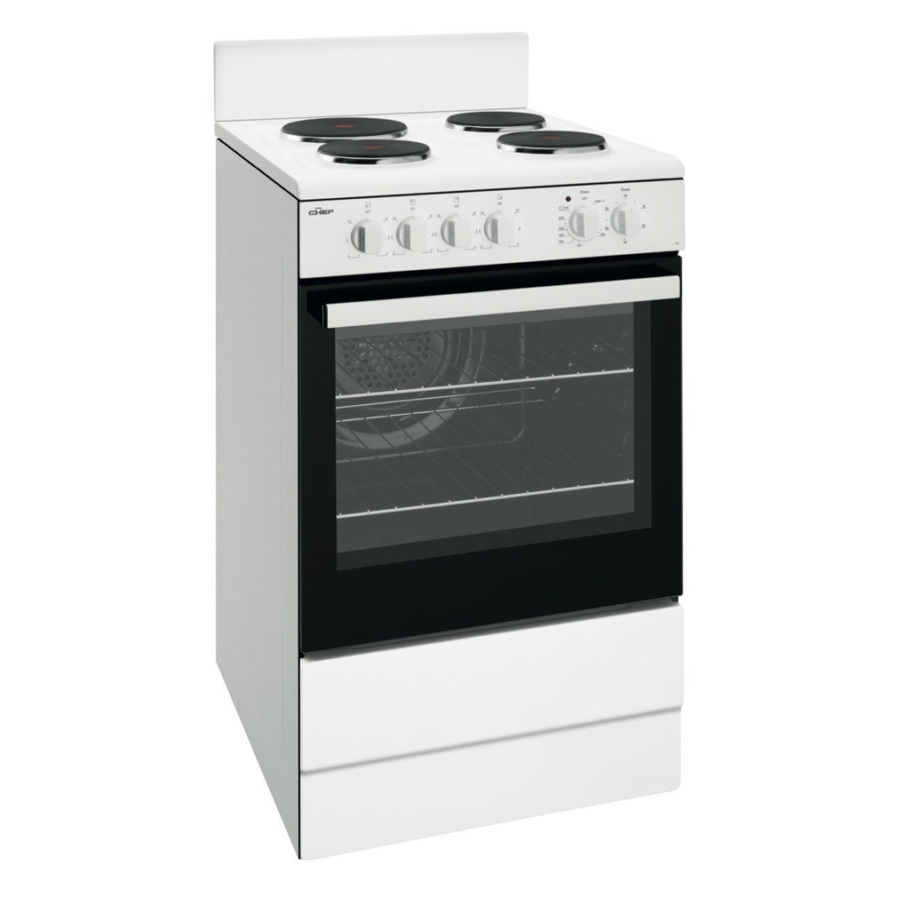 Chef CFE536WB 54cm Electric Freestanding Stove - Stove Doctor