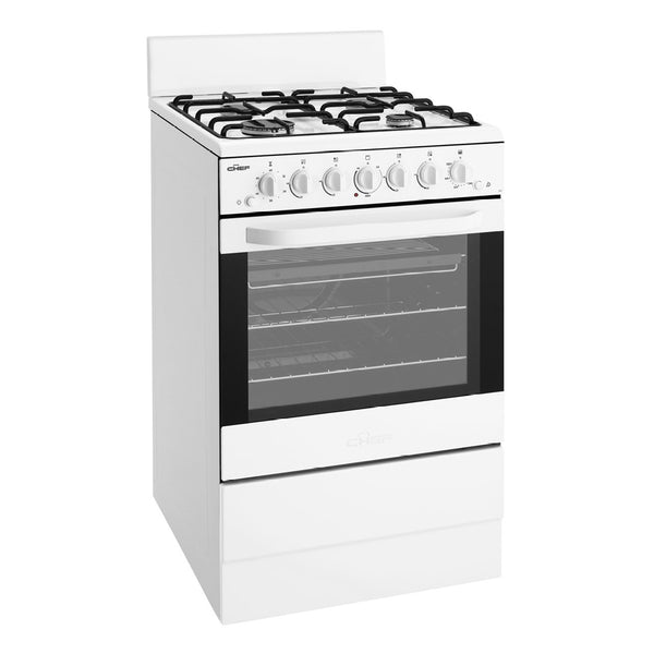Chef CFG504WBNG 54cm Freestanding Natural Gas Stove - Stove Doctor
