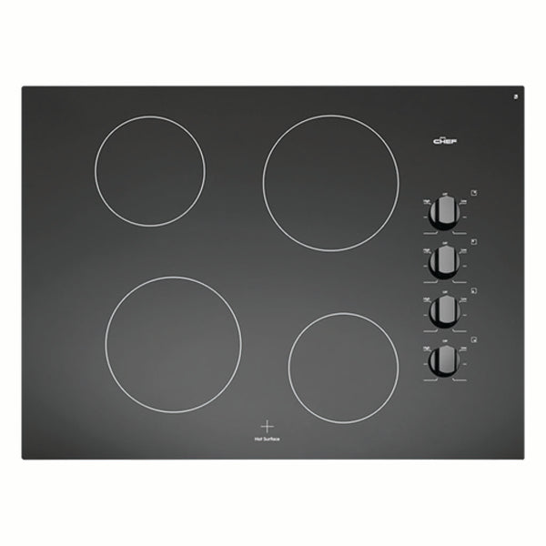 Chef CHC744BA 70cm Ceramic Electric Cooktop - Stove Doctor