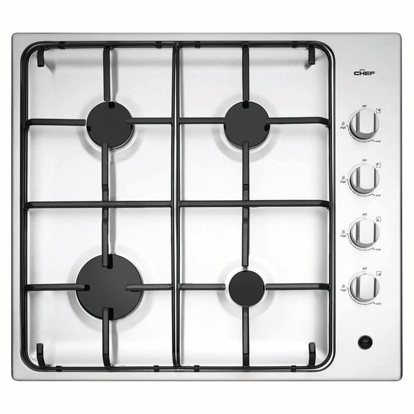 Chef CHG642SB 60cm Gas Stainless Steel Cooktop - Stove Doctor