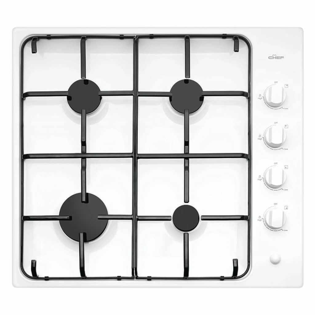 Chef CHG642WB 60cm Gas Stainless Steel Cooktop - Stove Doctor