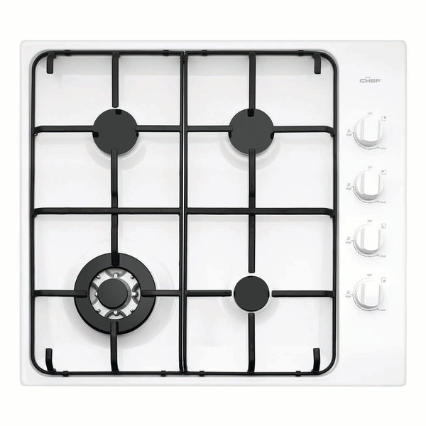 Chef CHG646WB 60cm Gas Stainless Steel Cooktop - Stove Doctor