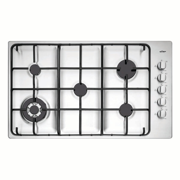 Chef CHG956SB 90cm Gas Stainless Steel Cooktop - Stove Doctor