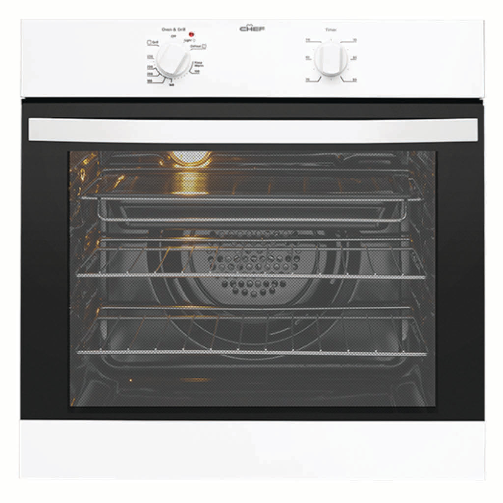 Chef CVE612WA 60cm Built-In Electric Oven - Stove Doctor