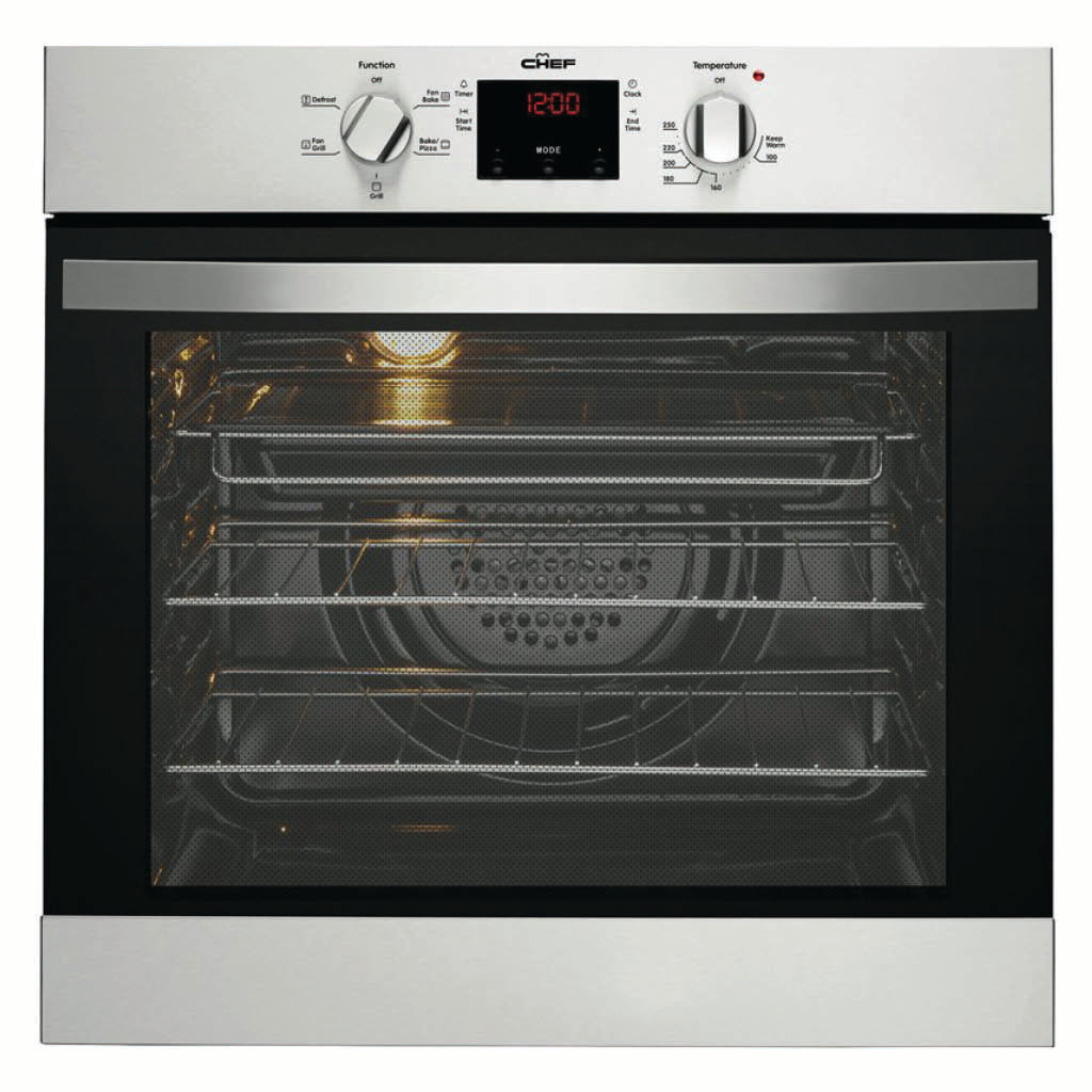 Chef CVE614SA 60cm Built-In Electric Oven - Stove Doctor