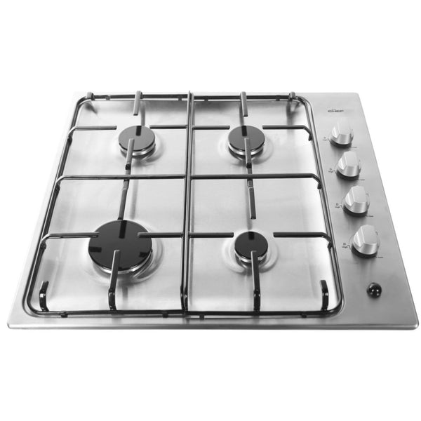 Chef CHG642SB 60cm Gas Stainless Steel Cooktop