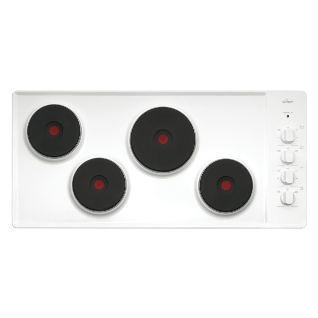 Chef CHS942WA 90cm Electric Cooktop - Stove Doctor
