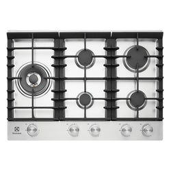 ELECTROLUX EHG755SA 75CM Natural Gas Cooktop - Stove Doctor