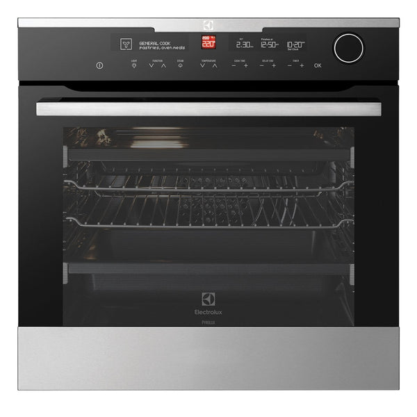 ELECTROLUX EVEP618SC 60CM Electric Built-In Pyrolytic Oven - Stove Doctor
