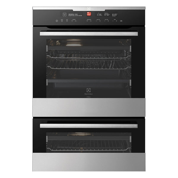 ELECTROLUX EVEP627SC 60CM Pyrolytic Electric Double Oven - Stove Doctor