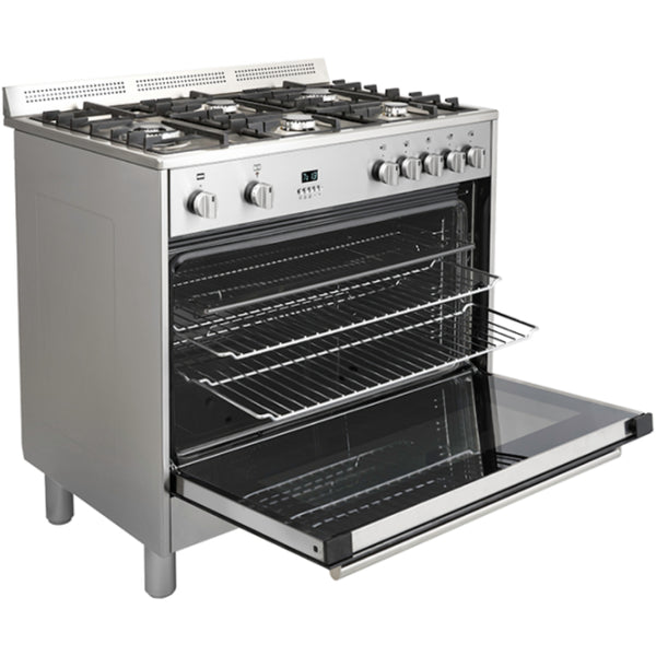 Euromaid EDF90S 90cm Dual Fuel Upright Cooker