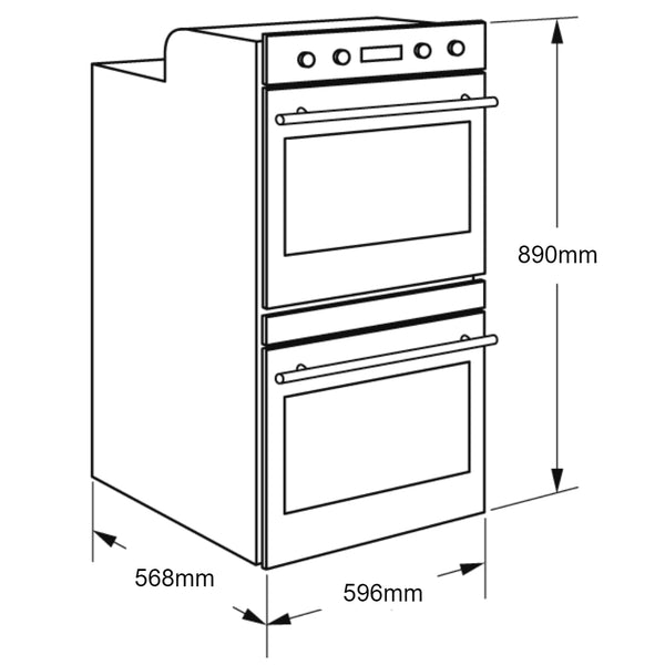 Electrolux EVE626DSD Electric Double Oven
