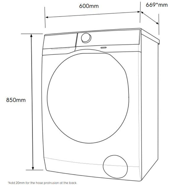 Electrolux EWF9043BDWA 7.5kg Front Load Washing Machine