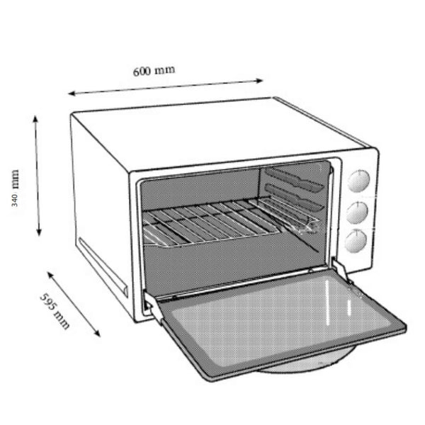 Euromaid BT44 Benchtop Oven
