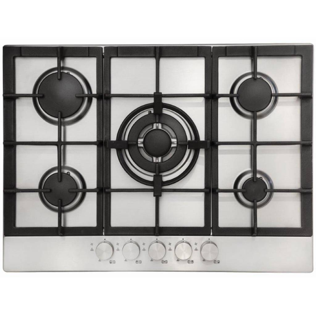 EUROMAID 70CM GAS CTOP 5 BURNER WOKCAST IRON CD7SG1