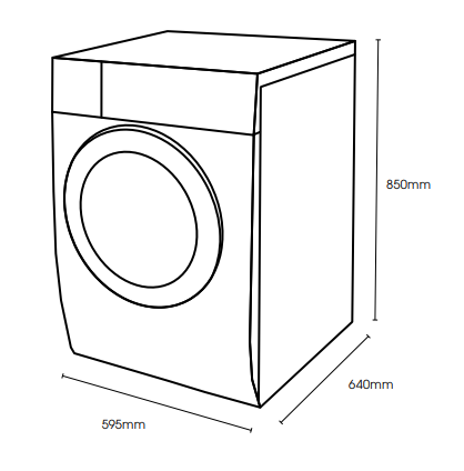 Euromaid WMFL10 10kg Front Load Washing Machine