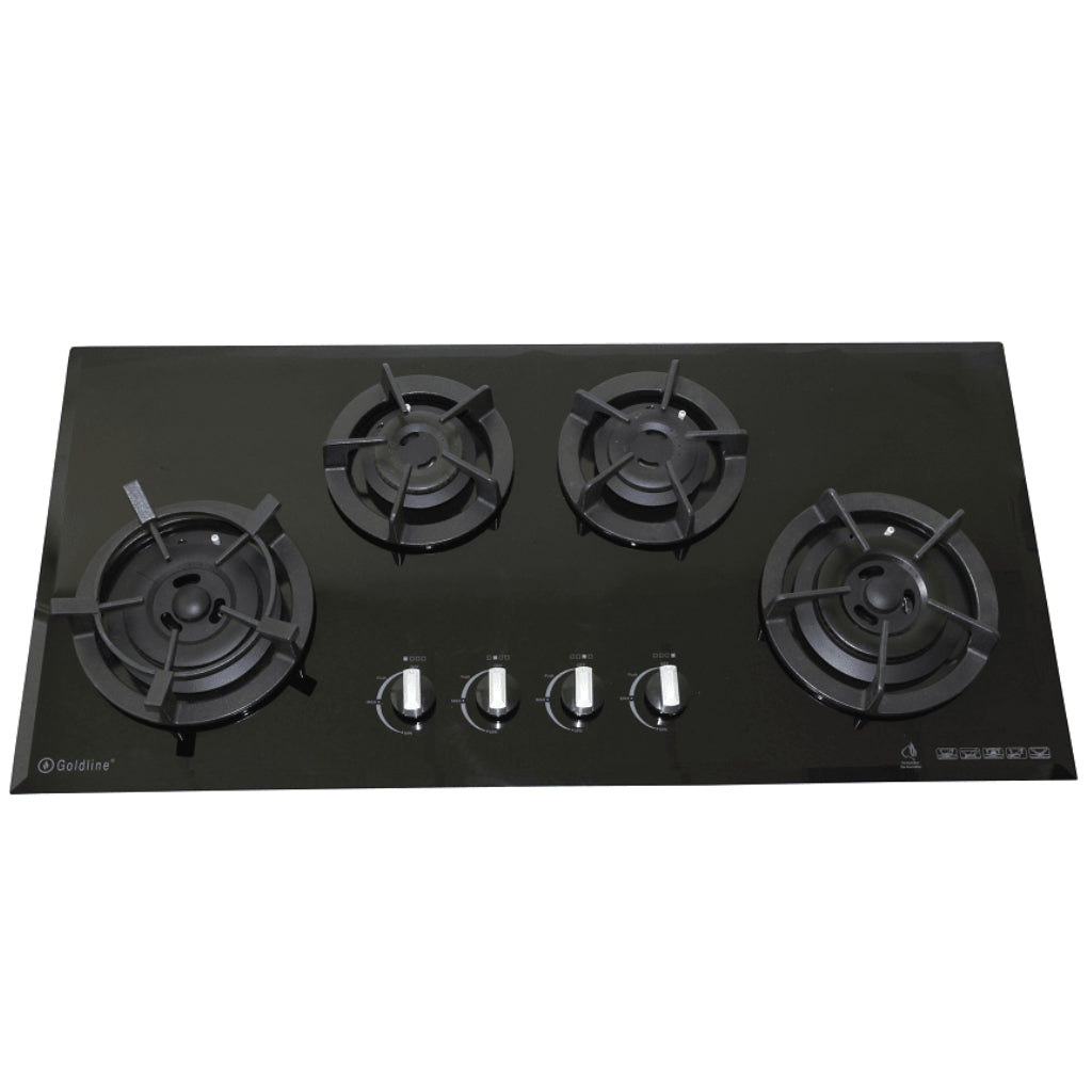 Goldline GL4BZNG 4 Burner Glass Gas Cooktop